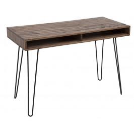 Moebel Living Masivní akátový psací stůl Remus 110x50 cm