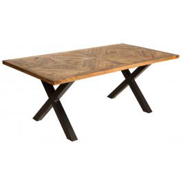 Moebel Living Masivní mangový jídelní stůl Bernard 160x90 cm