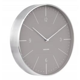 Time for home Šedo stříbrné kulaté nástěnné hodiny Honk