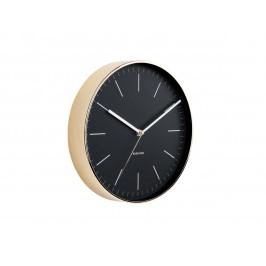 Time for home Černo zlaté kulaté nástěnné hodiny Okel