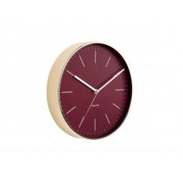 Time for home Vínovo zlaté kulaté nástěnné hodiny Okel