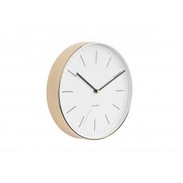 Time for home Bílo zlaté kulaté nástěnné hodiny Okel