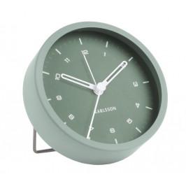 Time for home Světle zelený kovový budík Egare