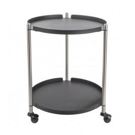 Time for home Černo stříbrný odkládací stolek Haran 42,5 cm