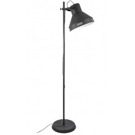 Time for home Černá kovová stojací lampa Kin