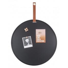 Time for home Černá magnetická nástěnka Dalia 50 cm