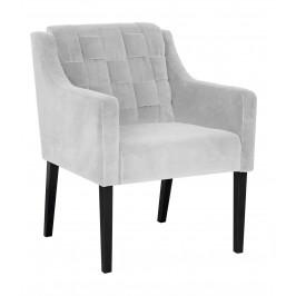 Concept design Stříbrně šedé čalouněné křeslo Frazer