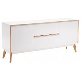 Bílá komoda LaForma Meety 160 x 45 cm