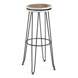 LaForma Masivní barová židle Farley s černou podnoží