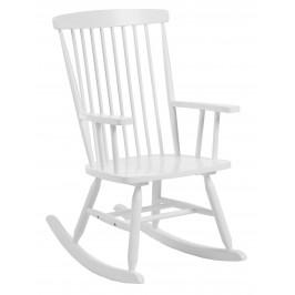 Bílé dřevěné houpací křeslo LaForma Terence