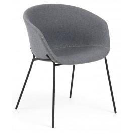 Šedá čalouněná jídelní židle LaForma Zadine