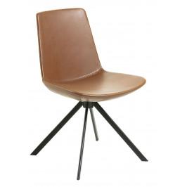 Světle hnědá kožená jídelní židle LaForma Zast