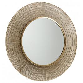 Kulaté mosazné zrcadlo LaForma Plax 80 cm