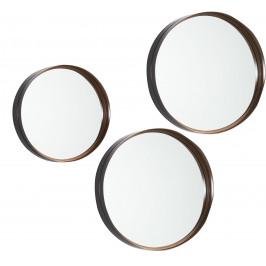 Set tří měděných zrcadel LaForma Rem