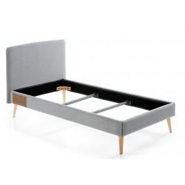 LaForma Šedá čalouněná postel LYDIA 90x190 cm