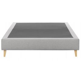Světle šedá čalouněná postel LaForma Nikos 160x200 cm