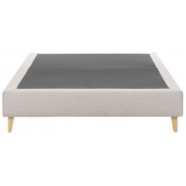 Béžová čalouněná postel LaForma Nikos 180x200 cm