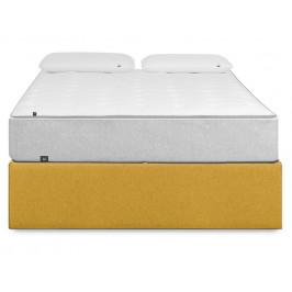 Hořčicově žlutá čalouněná postel LaForma Matters 180x200 cm