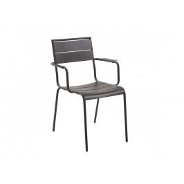 Tmavě šedá kovová zahradní židle LaForma Allegian