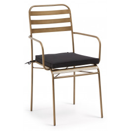 Zlatá kovová zahradní židle LaForma Kuala