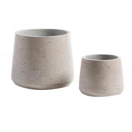 Set dvou šedých betonových květináčů LaForma Lux II.