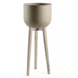Šedý betonový květináč LaForma Stahl 97 cm