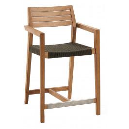 Dřevěná zahradní barová židle LaForma Thor 94 cm