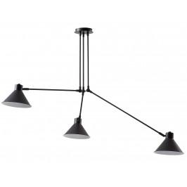 Černé kovové závěsné světlo LaForma Odine