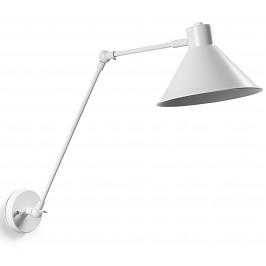 Bílé kovové nástěnné světlo LaForma Odine