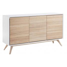 Bílá dřevěná komoda LaForma Quatre 154 x 45 cm