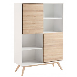 Bílá dřevěná knihovna LaForma Quatre 104 x 40 cm