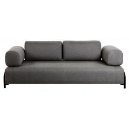 Tmavě šedá čalouněná pohovka LaForma Compo s polštáři 232 cm