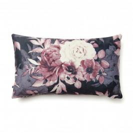 Růžový povlak na polštář LaForma Mak s květinovým potiskem 30 x 50 cm