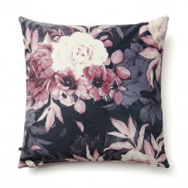 Růžový povlak na polštář LaForma Mak s květinovým potiskem 45 x 45 cm