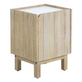Bílý dřevěný noční stolek LaForma Tropea