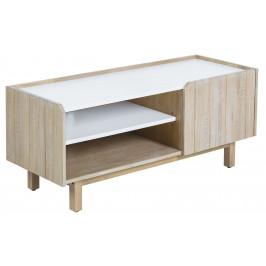 Bílý dřevěný TV stolek LaForma Tropea 120x50 cm