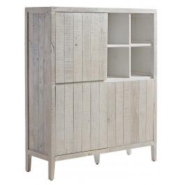 Bílá dřevěná komoda LaForma Woody 117 x 140 cm