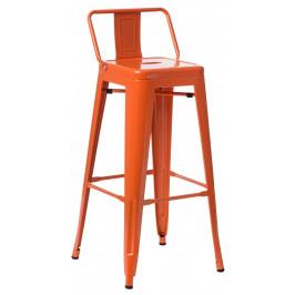 Culty Červená kovová barová židle Tolix 118 cm