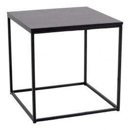 Nordic Living Černý kovový odkládací stolek Winter 45 cm
