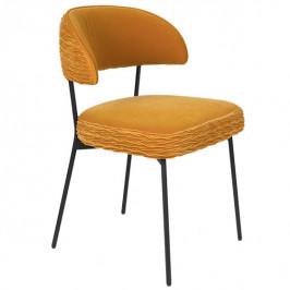 Žlutá sametová židle Bold Monkey The Winner Takes It All
