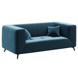 Modrá dvoumístná sametová pohovka MESONICA Toro 187 cm