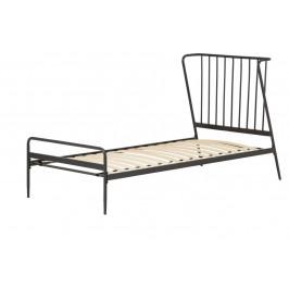Černá kovová postel LaForma Narlu 90 x 190 cm