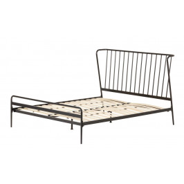 Černá kovová postel LaForma Narlu 160 x 200 cm