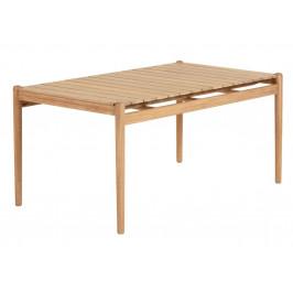 Dřevěný zahradní jídelní stůl LaForma Simja 160x94 cm