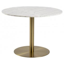 SCANDI Mramorový kulatý jídelní stůl Aron 105 cm
