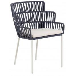 Modrá ratanová jídelní židle LaForma Robyn