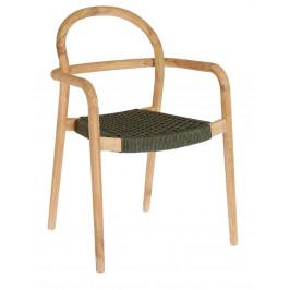 Zelená dřevěná zahradní židle LaForma Sheryl