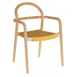 Hořčicově žlutá dřevěná zahradní židle LaForma Sheryl