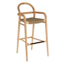 Béžová dřevěná zahradní barová židle LaForma Sheryl 110 cm