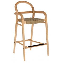 Béžová dřevěná zahradní barová židle LaForma Sheryl 100 cm